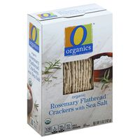 O Organics Crackers, Flatbread, Organic, Rosemary with Sea Salt