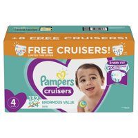 Pampers Cruisers Diapers Size 4 Bonus Pack 132 Count