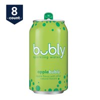 bubly Sparkling Water, Apple, 12 oz Cans, 8 Count