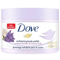 Dove Crushed Lavender & Coconut Milk Exfoliating Body Polish Scrub - 10.5oz
