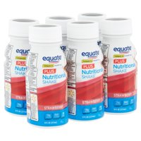 Equate Plus Nutritional Shakes, Strawberry, 8 fl oz, 6 Count