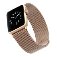 Stainless Steel Mesh Band for 42 & 44MM Apple Watch® - Rose gold