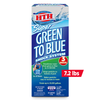 HTH Super Green to Blue Shock System for Swimming Pools, 7.2 lbs