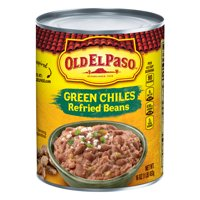 Old El Paso Green Chiles Refried Beans, 16 oz Can