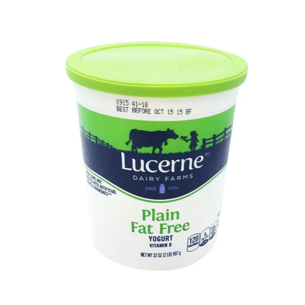 Lucerne Dairy Farms Plain Nonfat Yogurt