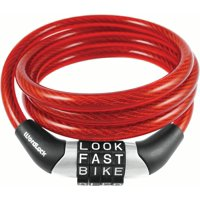 WordLock 8mm x 4 ft Cable Bike Lock- Red