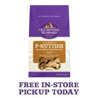 Old Mother Hubbard Classic Crunchy Natural Dog Treats, P-Nuttier Small Biscuits