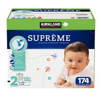 Kirkland Signature Supreme Diapers, Size 2, 174 ct