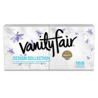 Vanity Fair Everyday Paper Napkins, Design Collection, 160 Count