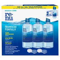 Bausch & Lomb Renu Advanced Formula Multi-Purpose Solution, 50 oz