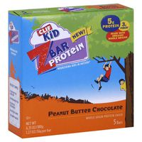 CLIF Kid Protein Peanut Butter Chocolate Whole Grain Crispy Snack Bar