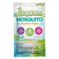 Bugables Mosquito Repellent Wipes - Family-Friendly DEET Free Formula