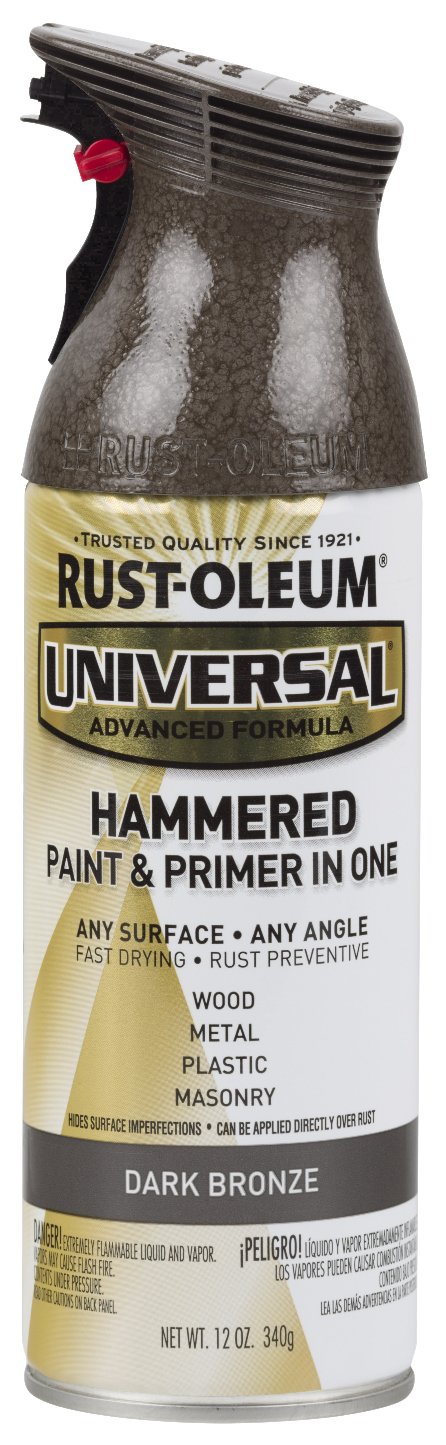 (3 Pack) Rust-Oleum Universal All Surface Hammered Dark Bronze Spray Paint and Primer in 1, 12 oz