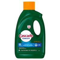 Cascade Complete Dishwasher Detergent Gel with Dawn Grease Fighting Power, Citrus Breeze