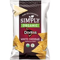 Simply Doritos Organic White Cheddar Tortilla Chips, 7.5 oz Bag