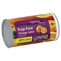 Signature Kitchens 100% Juice, Orange, Frozen Concentrate, Pulp Free