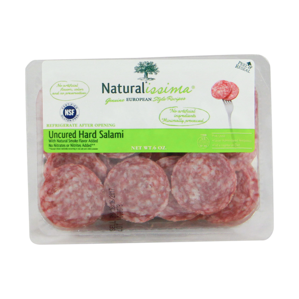 Naturalissima Uncured Hard Salami, 6 oz