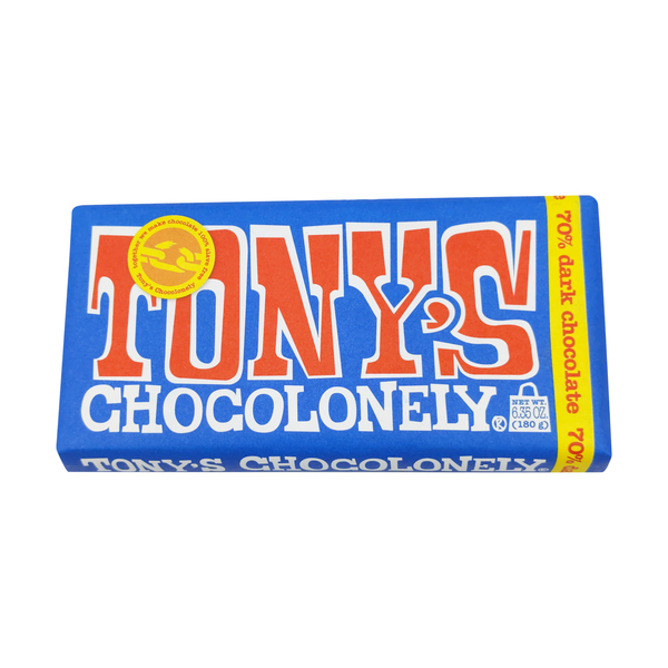 Tony's chocolonely 70% Dark Chocolate Bar, 6.35 oz