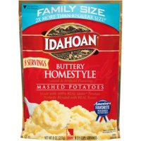 Idahoan Family Size Buttery Homestyle Mashed Potatoes - Gluten-Free, Real Idaho Potatoes - 1 Pouch (8 Servings)