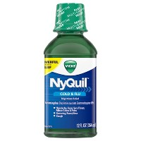 Vicks NyQuil Cold & Flu Relief Liquid - Acetaminophen - 12 fl oz