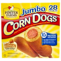Foster Farms Jumbo Chicken Corn Dogs, 28 x 4 oz
