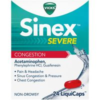 V Sinex Sinus and Chest Congestion, Non-Drowsy LiquiCaps
