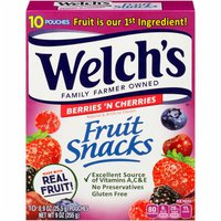 Welch's Fruit Snacks, Berries 'n Cherries