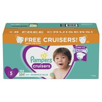 Pampers Cruisers Diapers Size 5 Bonus Pack 112 Count