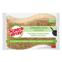 Scotch-Brite Greener Clean Non-Scratch Scrub Sponge, 3 Count