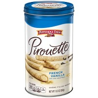 Pepperidge Farm Pirouette Crème Filled Wafers French Vanilla Cookies, 13.5oz Tin