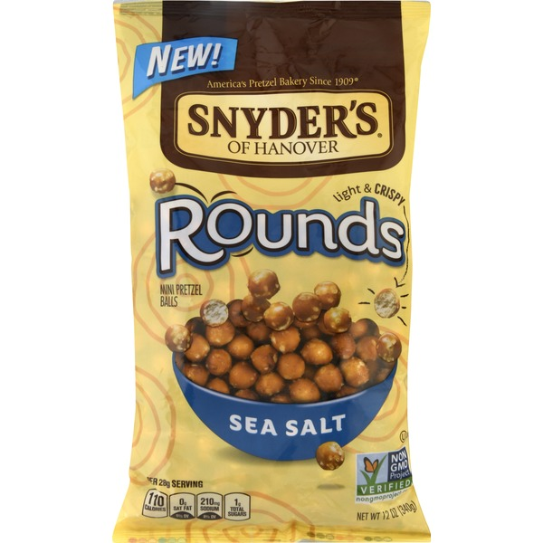Snyders Rounds, Sea Salt, Light & Crispy