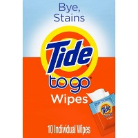 Tide To Go Instant Stain Remover Wipes - 10ct
