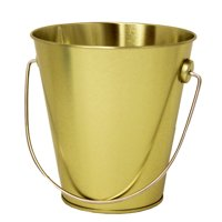 Tin Pail with Handle - Gold