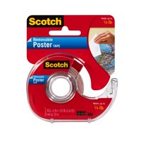 3M Scotch Removable Double-Sided Poster Tape Dispenser, 3/4' x 150'