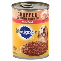 Pedigree Chopped Ground Dinner With Beef Canned Dog Food 13.2 Ounces