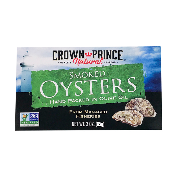 Crown prince natural Smoked Oysters In Olive Oil, 3 oz