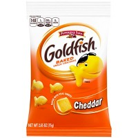Pepperidge Farm Goldfish Cheddar Crackers, 2.65oz Snack Pack