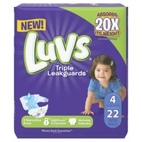 Luvs Triple Leakguards Diapers Size 4 22 Count