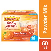 Emergen-C Original Formula (60 Ct, Super Orange) Vitamin C Powder