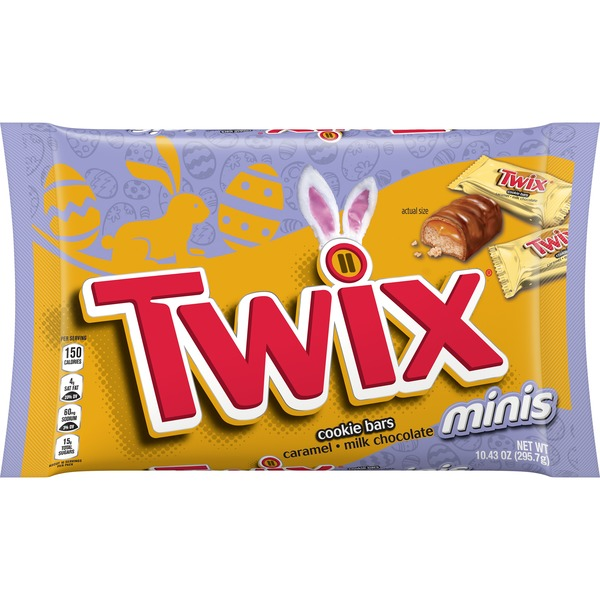 Twix Easter Caramel Minis Size Chocolate Cookie Bar Candy