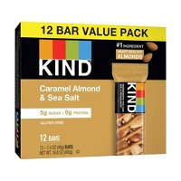 KIND Caramel Almond & Sea Salt Bars - 12ct