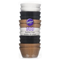 Wilton Cupcake Liners, White, Black and Natural, 300-Count