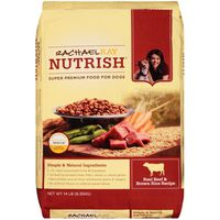 Rachael Ray Nutrish Food for Dogs, Real Beef, Pea & Brown Rice Recipe, Adult