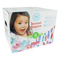 The Honest Company Diapers, Rose Blossom, Painted Feathers, 5 (27+ Pounds)