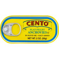 Cento Flat Fillet Anchovies in Olive Oil