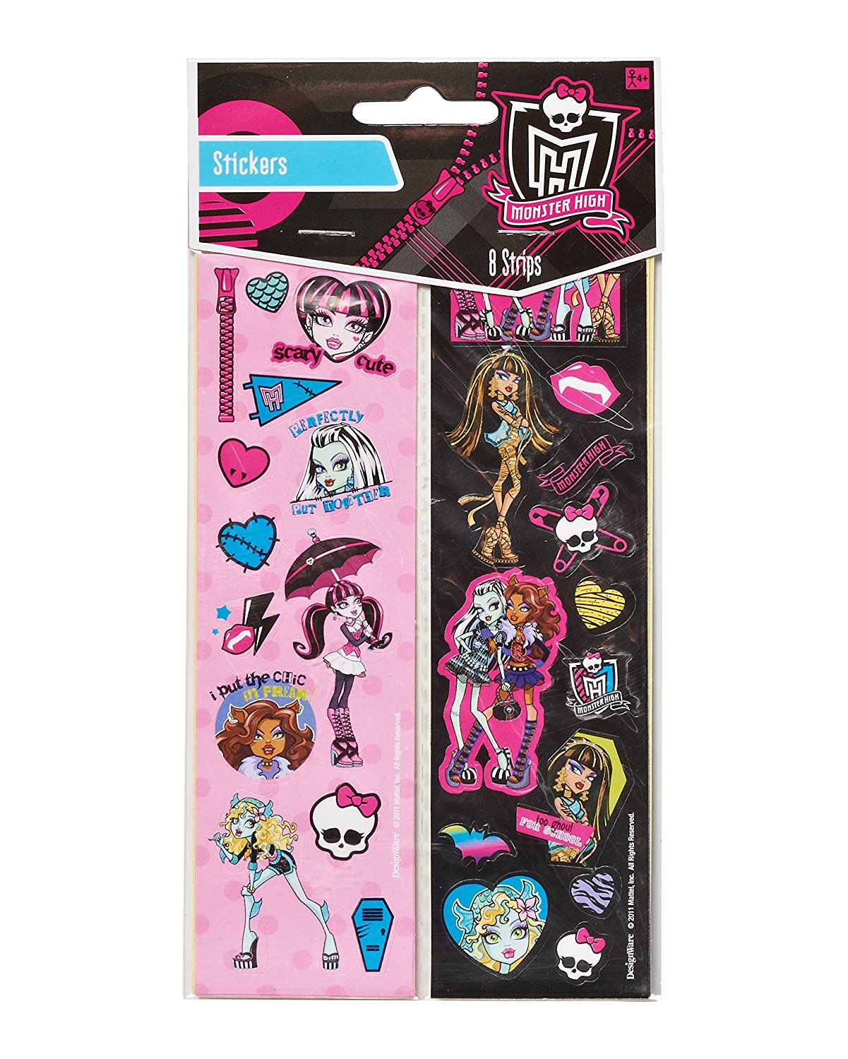 Monster High Party Favor Sticker Sheets, 8ct