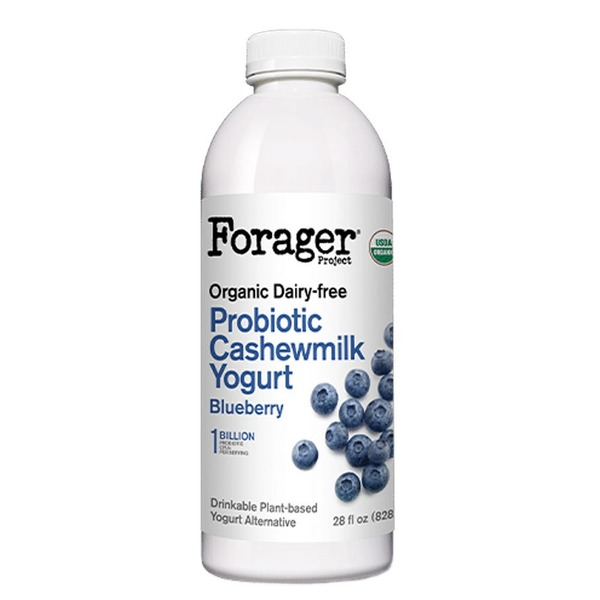 Forager Project Wild Blueberry Dairy-Free Probiotic Drinkable Cashewgurt
