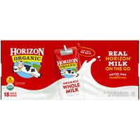 Horizon Organic Whole Milk 18/8 Oz