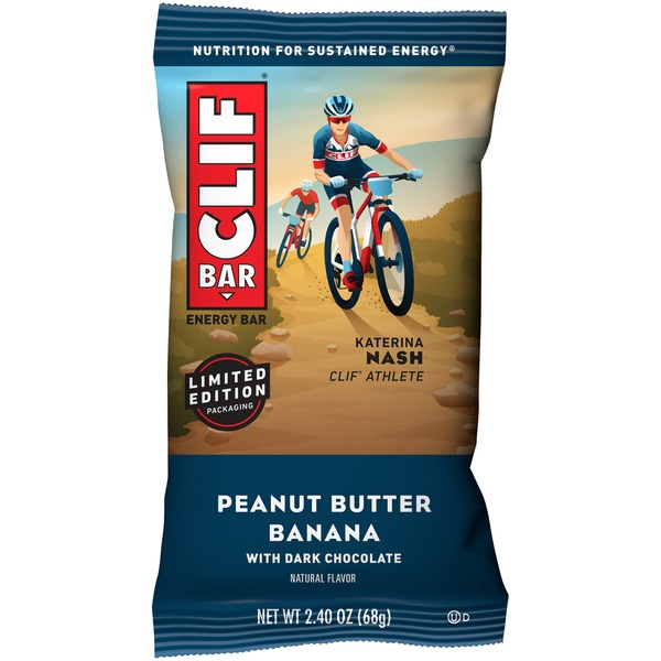 CLIF Bar Peanut Butter Banana with Dark Chocolate Energy Bar