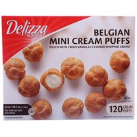 Delizza Belgian Mini Cream Puffs, 120 ct, 53 oz